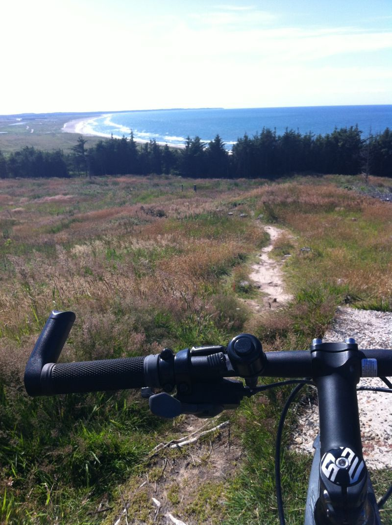 Prøv fed mountain bike rute i Svinkløv klitplantage ved slettetstrand i nordjylland